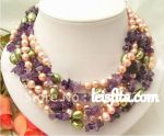 Lavender fancy pearl necklace