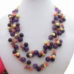 Purple Crystal Coral Necklace