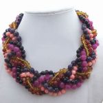 Purple crystal stone Necklace