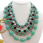 Strands Pearl Blue Semi-precious  Necklace