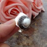 White Pearl Cuff Ring