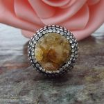 Natural Stone Druzy Ring