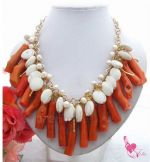 Coral main stone necklace