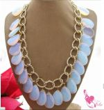 Trendy stone necklace