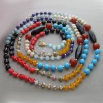 Round turquoise, round faceted pearl