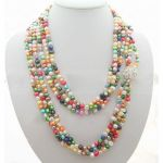 Multi Color Pearl Rhinestone Necklace