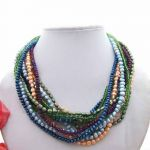 Multi Color Pearl & Crystal Necklace