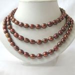 Coffee baroque FW Pearl Necklace