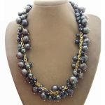 Black Round Pearl Necklace