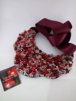 Red and silver Coral chip