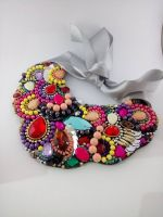 Mix color Acrylic Rhinestone Necklace