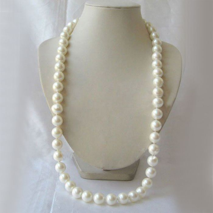 414dd8ba4 Shell pearls perfect round and mother of pearl beaded necklace From  Bangladesh in Leisfita.com