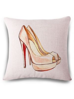 Ladies pattern square linen  cushion covers