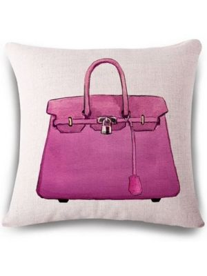 Ladies pattern square linen sofa cushion covers