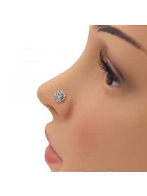 Big Star Zirconia Gold Nose Pin
