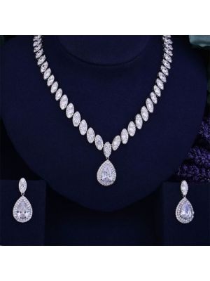 Bridal Cubic Zirconia Necklace