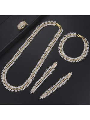 Cubic Zirconia golden color necklace