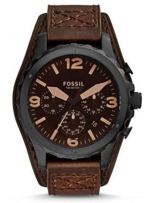 Men's Leather Band Chronograph Fossil Watch-JR1511