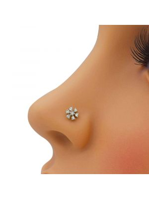 Glowing Star Diamond Nose Pin