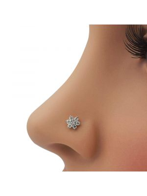 Moon Star Diamond Nose Pin