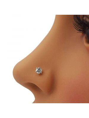 Polished Natural Diamond Nose Pin