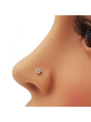 White color diamond nose pin