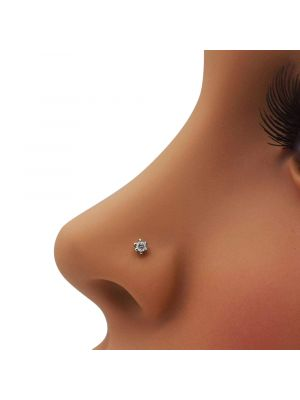 Elegant Star Diamond Nose Pin