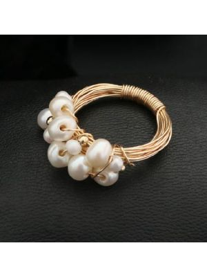 Baroque White color Pearl Rings