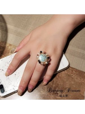 Natural Fresh Water Baroque White Pearl Rings