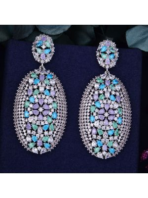 Multicolor Cubic Zirconia Earring