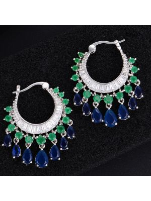 Cubic Zirconia Elegant Water Drop earring