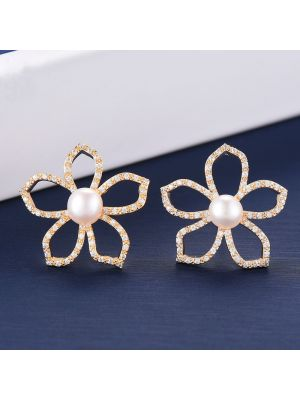 Cubic ZirconiaBridal Silver Stud Earrings