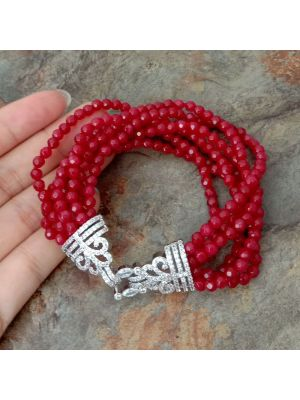 Red color Stone Bracelet