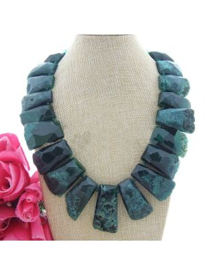 Dyed color agate and rondelle crystal necklace