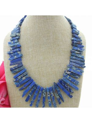Blue Imperial Stone Necklace