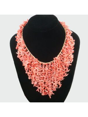 Natrual Pink Coral Necklace