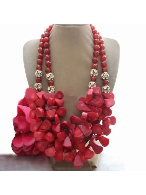 Red potato coral necklace