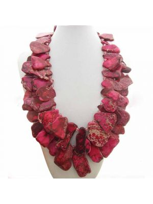 Imperial Stone and Crystal Necklace