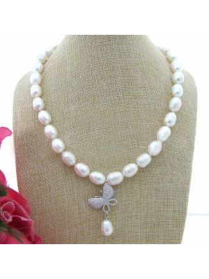 White Rice Freshwater Pearl Necklace