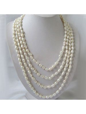 White natural blemish stone necklace