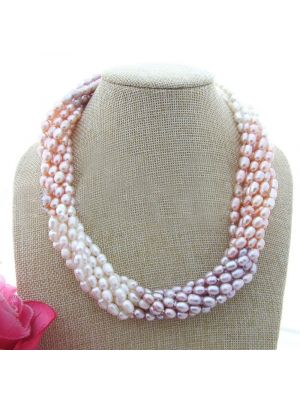 White color pearl necklace
