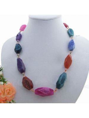 Multi color Onyx Crystal Necklace