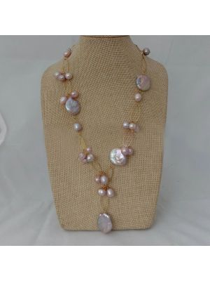 Purple color Keshi Pearl Necklace