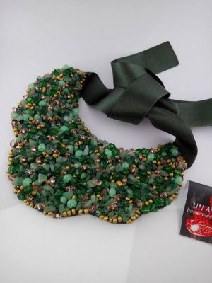 Green Jade chip necklace