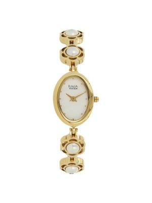 Aurora Analog White Dial Women's Watch-2511YM08 Titan Raga