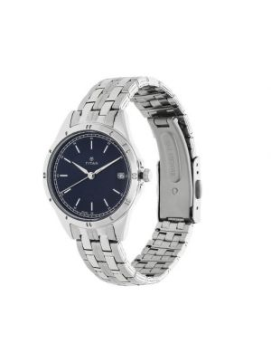 Blue Dial Women's Titan Watch - 2556SM02